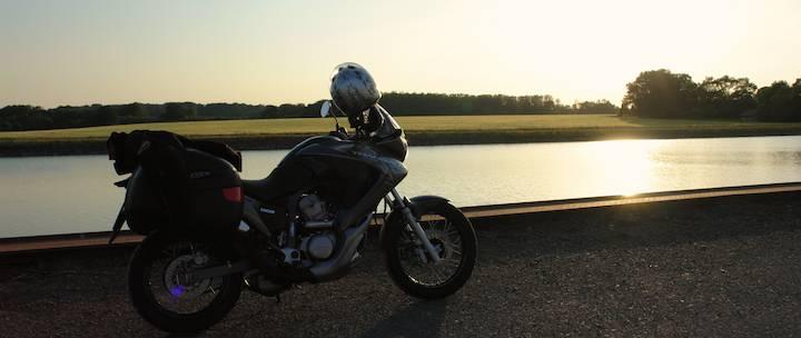 Sonnenuntergang mit dem Bike